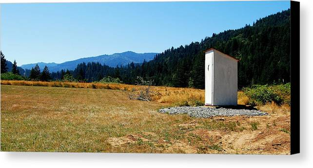Landscape Canvas Print featuring the photograph Peace And Solitude by Rupert Chambers