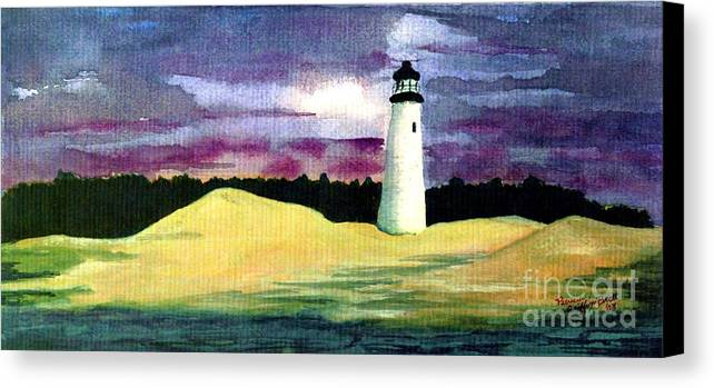Fine Art Canvas Print featuring the painting The Beacon by Patricia Griffin Brett