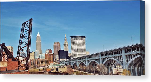 Cleveland Canvas Print featuring the photograph Cleveland by Rachel Barrett