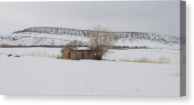 Forgotten Dreams Canvas Print featuring the photograph Lonely On The Prairie by Floyd Tillery