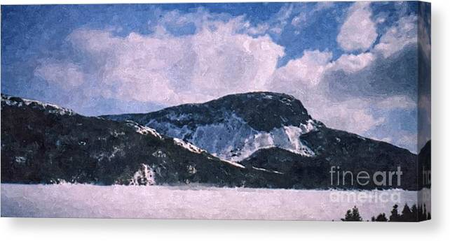 Snow Clouds Canvas Print featuring the photograph Snow Clouds - Winter - Ice by Barbara Griffin