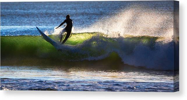 Ocean Canvas Print featuring the photograph Surfing The Waves by Robert Mullen