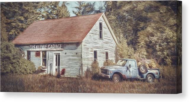 Gus Klenke Garage Canvas Print featuring the photograph Gus Klenke Garage by Scott Norris