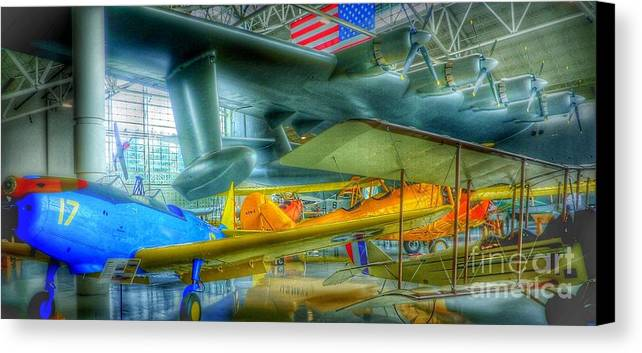Vintage Airplanes Canvas Print featuring the photograph Vintage Airplanes by Susan Garren