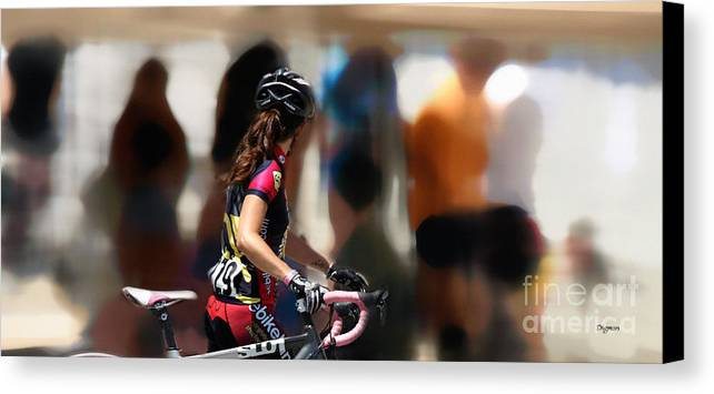 Bicycle Canvas Print featuring the photograph Colors At Walking Speed by Steven Digman