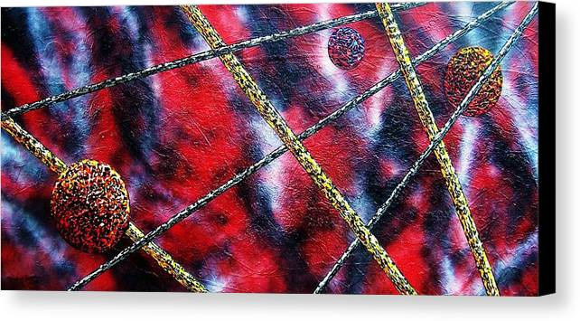 Abstract Canvas Print featuring the painting Continuum Iv Red Sky by Micah Guenther