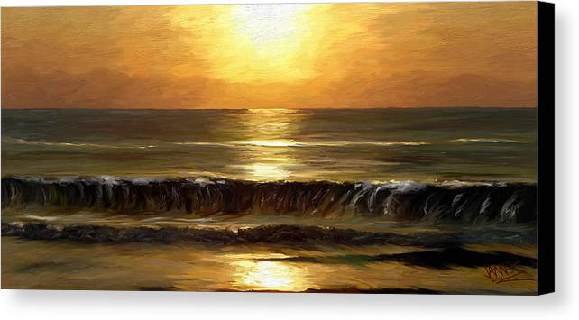 Impressionism Canvas Print featuring the painting Evening Sun by James Shepherd