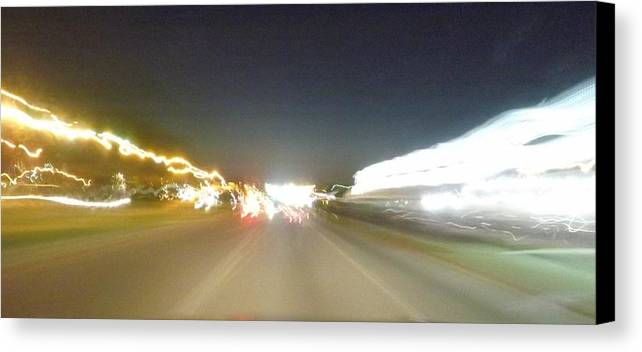 Greensboro Canvas Print featuring the photograph Racing Lights by Angelena Smith