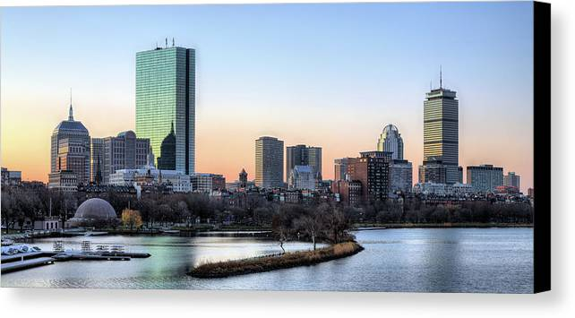 Boston Canvas Print featuring the photograph Back Bay Sunrise by JC Findley