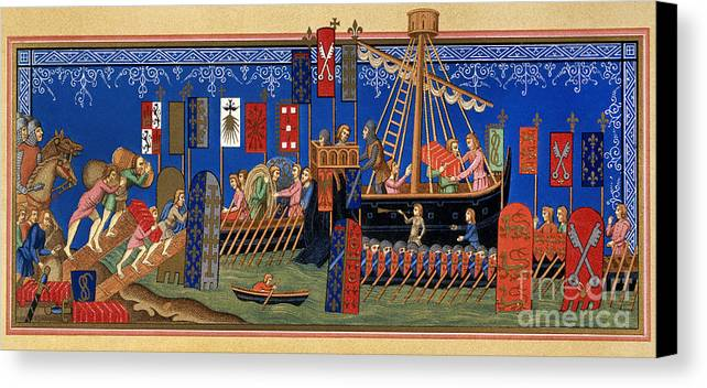 14th Century Canvas Print featuring the painting Crusades 14th Century by Granger