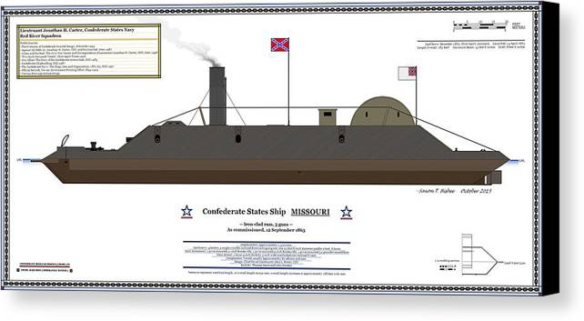 Navy Canvas Print Featuring The Digital Art Css Missouri Color Profile By Saxon Bisbee