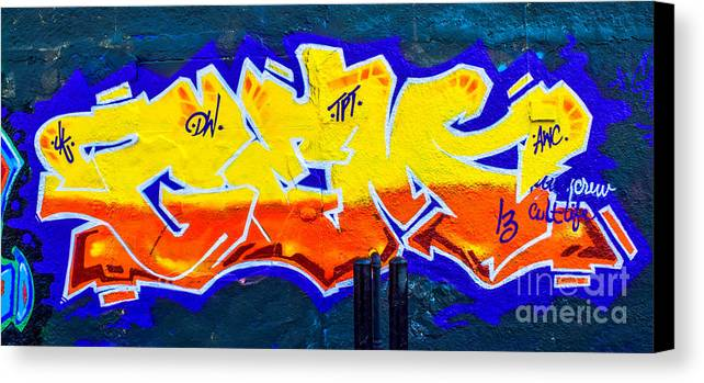 Artistic Canvas Print featuring the photograph Graffiti Art Nyc 15 by Anakin13