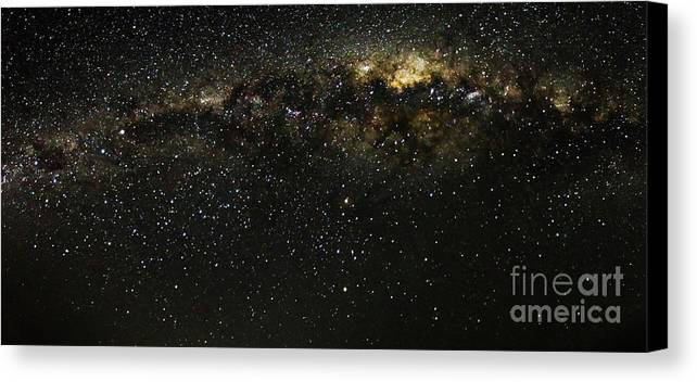 Nature Canvas Print featuring the photograph Milky Way by Mirko Chianucci