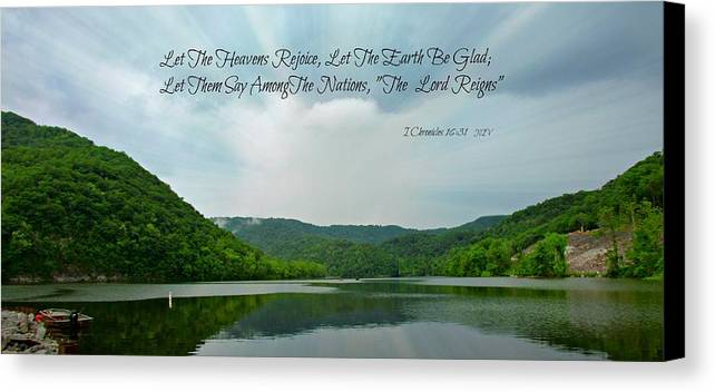 The Lord Reigns Canvas Print featuring the photograph The Lord Reigns by Beverly Canterbury