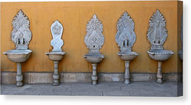 Art Canvas Print featuring the photograph Antique Wash Basins by Claudio Bacinello
