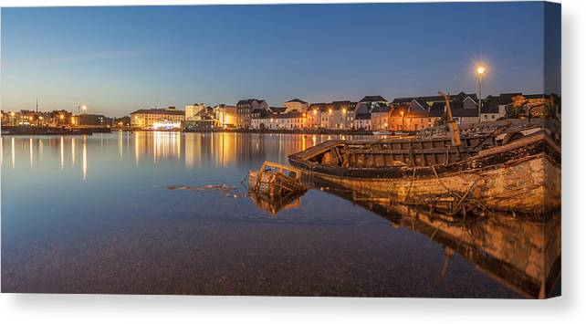 Claddagh Canvas Print featuring the photograph Claddagh Galway by James Cronin
