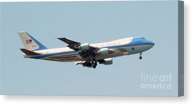 Air Force 1 Canvas Print featuring the photograph Air Force 1 by Paul W Faust - Impressions of Light