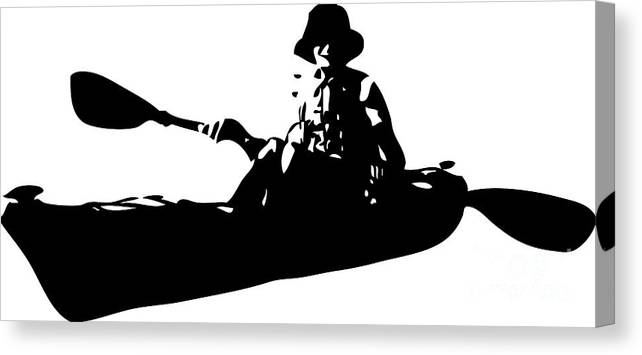 Kayaking Canvas Print featuring the digital art Kayak by Roger Witmer
