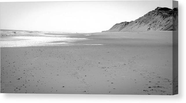 Black And White Canvas Print featuring the photograph Lecounts by Heather Hubbard
