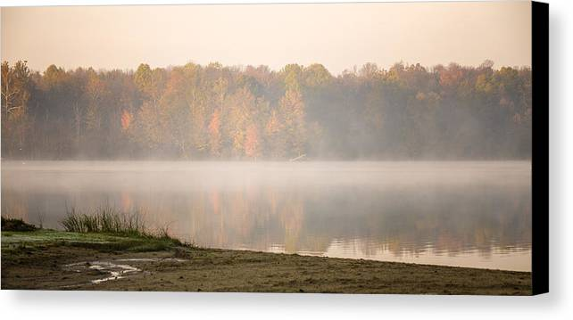Fall Canvas Print featuring the photograph Kiser Lake Fall by Bruce Multhup