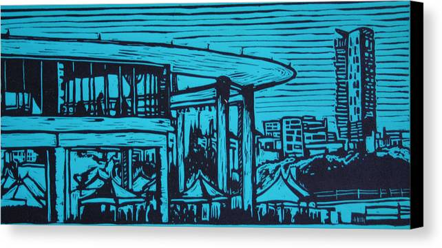 Long Center Canvas Print featuring the drawing Long Center by William Cauthern