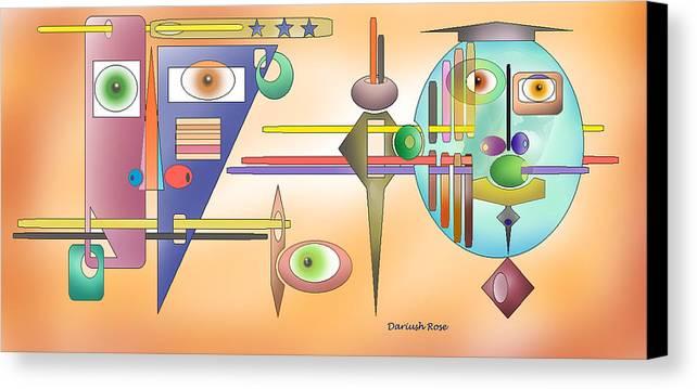 Canvas Print featuring the digital art Graduate by Dariush Rose