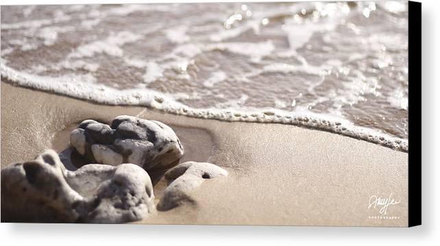 Kamaole Canvas Print featuring the photograph Kamaole Beach Rock by Amy Lee