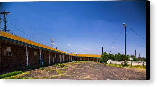 Route 66 Canvas Print featuring the photograph Motel Rooms 2 by Angus Hooper Iii