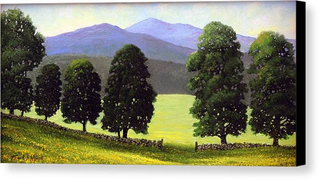 Landscape Canvas Print featuring the painting Old Wall Old Maples by Frank Wilson