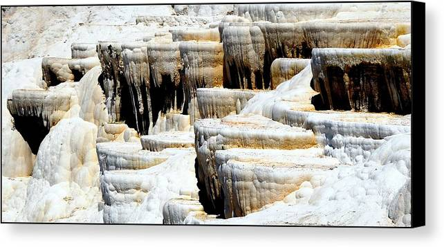 Pamukkale Canvas Print featuring the photograph Pamukkale Terraces by Apurva Madia