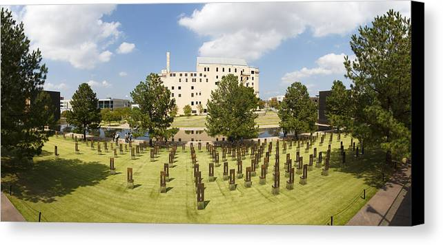 National Canvas Print featuring the photograph Oklahoma City National Memorial by Ricky Barnard