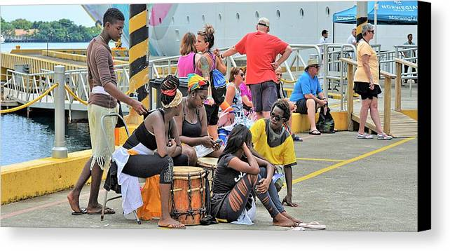 Portrait Canvas Print featuring the photograph Roatan Life by Gianni Bussu