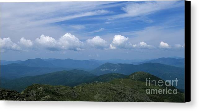 Appalachian Trail Canvas Print featuring the photograph Appalachian Trail - White Mountains New Hampshire Usa by Erin Paul Donovan