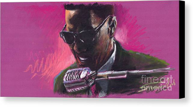 Jazz Canvas Print featuring the painting Jazz. Ray Charles.1. by Yuriy Shevchuk