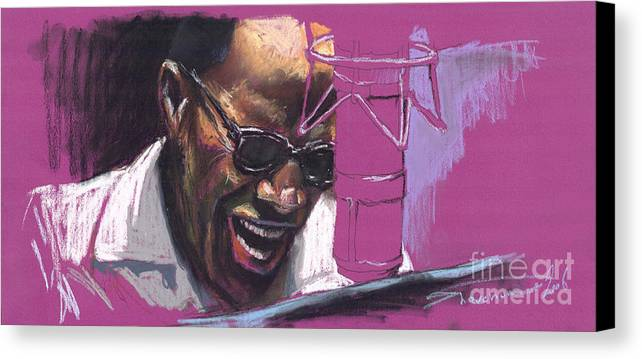 Jazz Canvas Print featuring the painting Jazz Ray by Yuriy Shevchuk