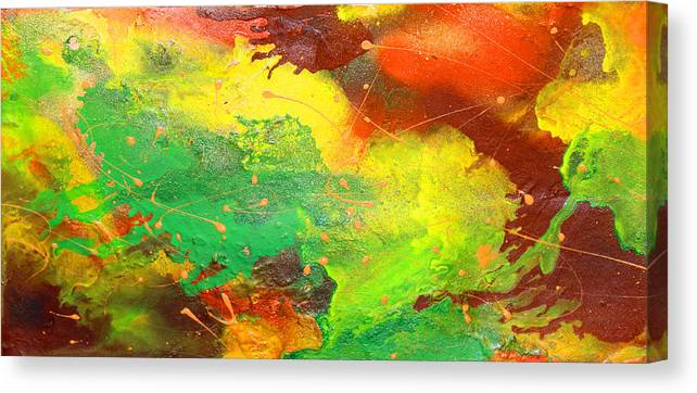 Discount Canvas Print featuring the painting Autumn Grace by Julia Fine Art And Photography