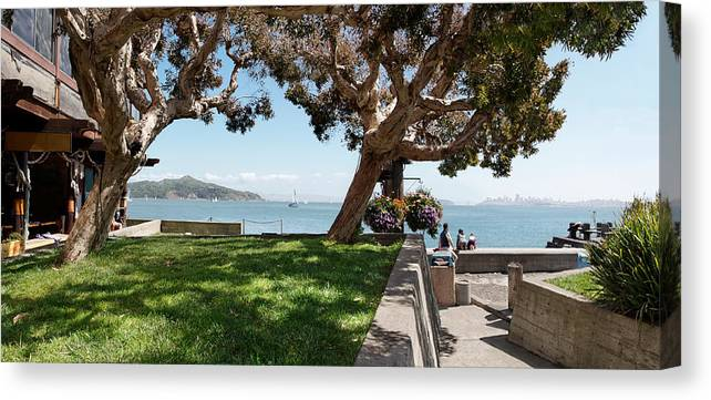 Waterfront Canvas Print featuring the photograph Taking In The View by Jo Ann Snover