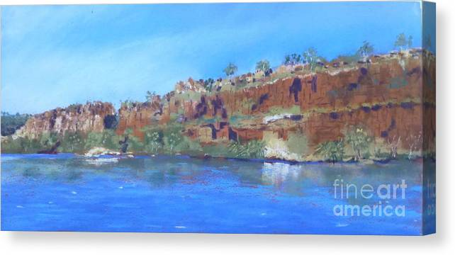 Ord River Canvas Print featuring the photograph Ord River Afteroon Cruise by Nadine Kelly