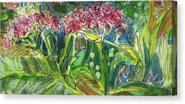 Art Canvas Print featuring the drawing Piinta The Butterfly Flower by Mindy Newman