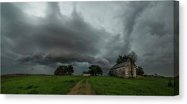 Sky Canvas Print featuring the photograph Swan by Aaron J Groen