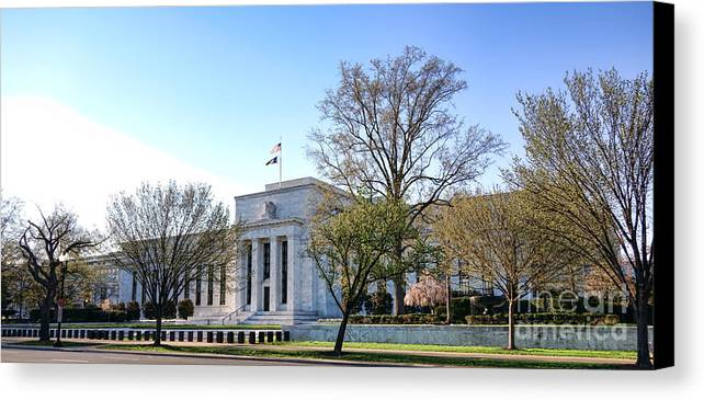 Federal Canvas Print featuring the photograph Federal Reserve Building by Olivier Le Queinec