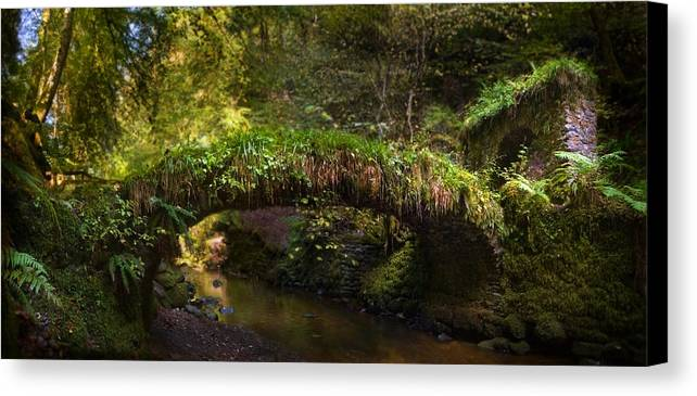Reelig Bridge Canvas Print featuring the photograph Reelig Bridge And Grotto by Joe Macrae