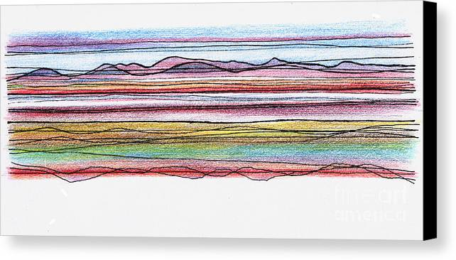 Bay Canvas Print featuring the digital art Bay Lines by Andy Mercer