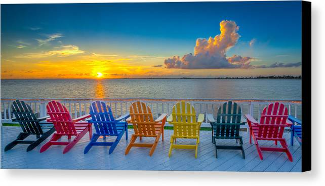 Rocky Point Canvas Print featuring the photograph Tampa Bay Sunset by Lance Raab