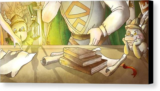 Robin Hood Canvas Print featuring the painting Articles Of The Barons 2 by Reynold Jay