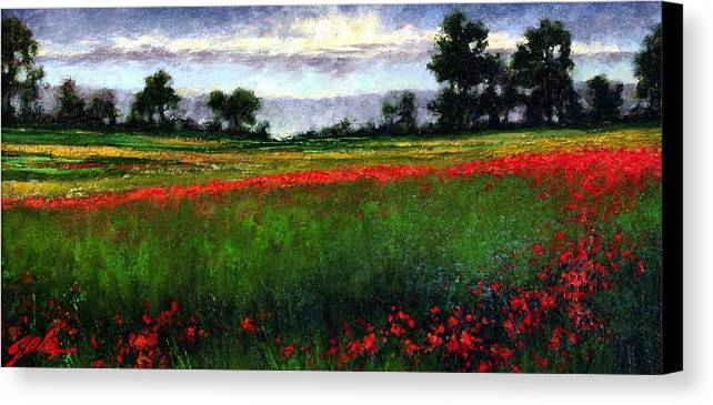 Landscape Canvas Print featuring the painting Colorburst by Jim Gola