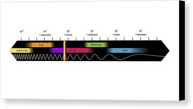 Electromagnetic Spectrum Canvas Print featuring the photograph Electromagnetic Spectrum, Artwork by Equinox Graphics
