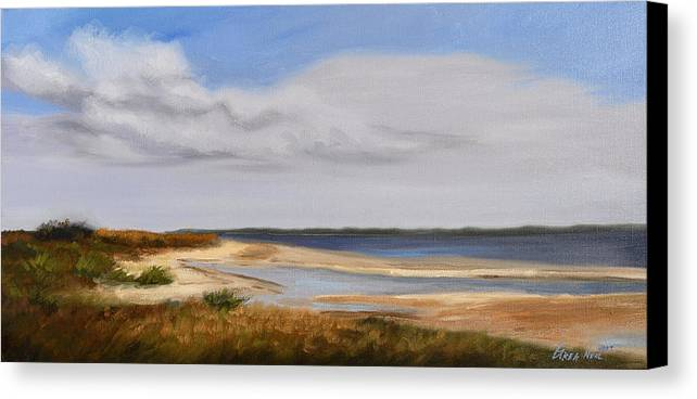 Landscape Canvas Print featuring the painting Honeymoon Island by Greg Neal