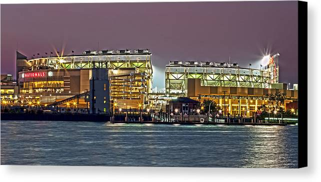 nats Park Canvas Print featuring the photograph Nationals Park - Baseball Stadium - Washington Dc by Brendan Reals