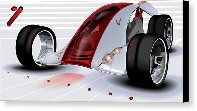 Nike Canvas Print featuring the digital art Nike Concept Car Ai by Brian Gibbs
